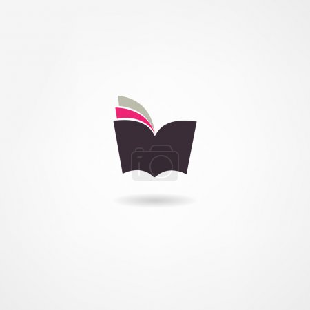 Illustration for Book icon - Royalty Free Image