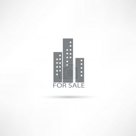 Illustration for House for sale icon - Royalty Free Image
