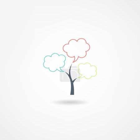 Illustration pour Icône de l'arbre - image libre de droit