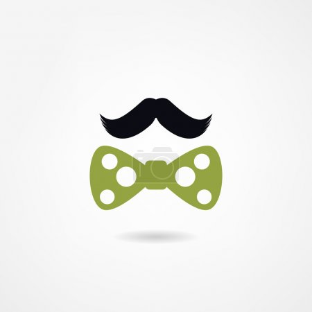 mustache and a bow tie
