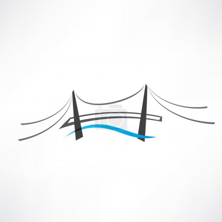 abstract road bridge icon