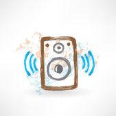 Music speakers grunge icon