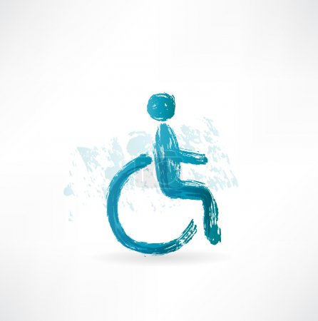 Symbol wheelchair users icon