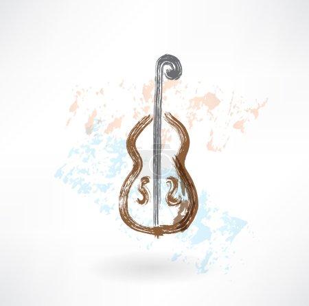 Music cello grunge icon