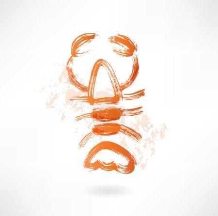 lobster grunge icon