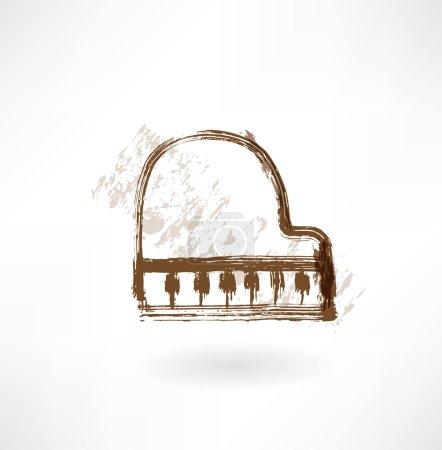 Piano grunge icon