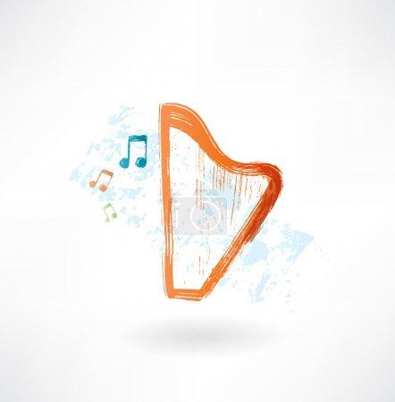 Harp grunge icon