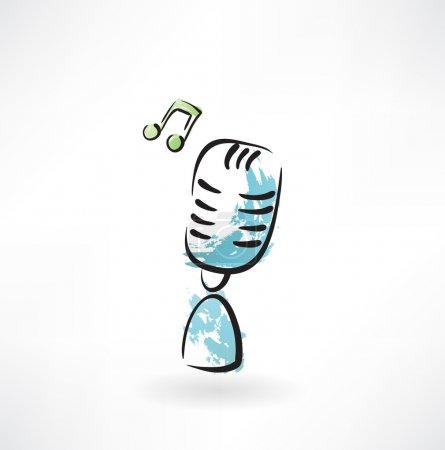 music microphone grunge icon