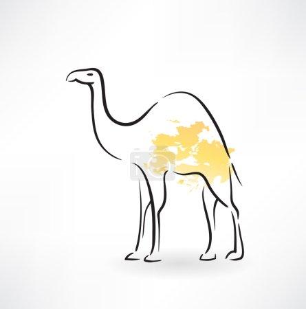 camel grunge icon