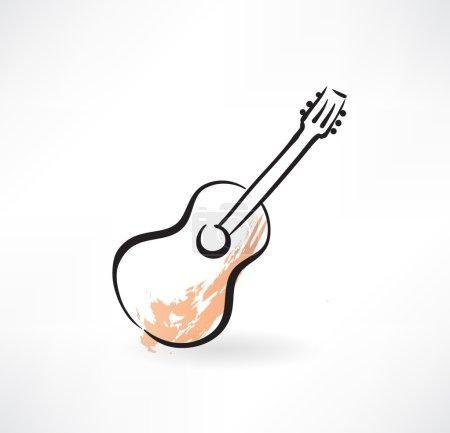 Guitar grunge icon