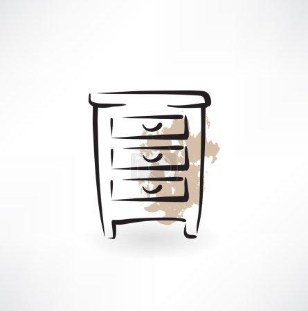 Nightstand grunge icon