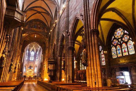 Interior of church Freiburg Muenster, Germany