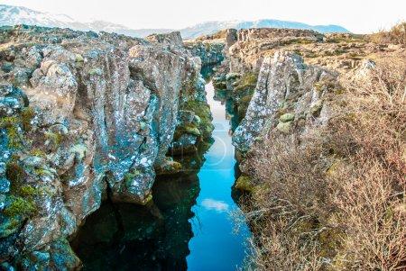 Photo pour Thingvellir, point de rencontre des plaques tectoniques, lieu célèbre, Islande - image libre de droit