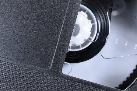 VHS Tape Macro Closeup, large detailed black retro...