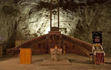 Praid underground salt mine.