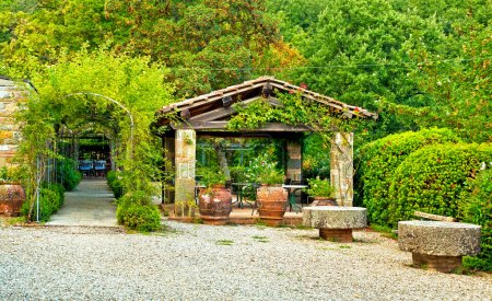 élégante terrasse couverte
