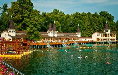 Lake Heviz in Hungary.