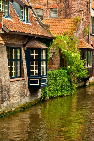 Houses along the canals of Brugge