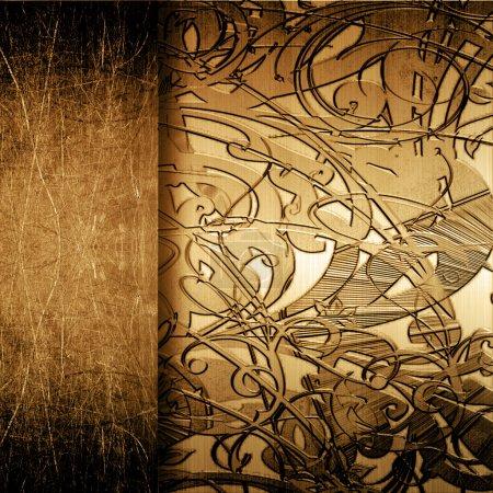Foto de Chapa Grunge con adorno - Imagen libre de derechos