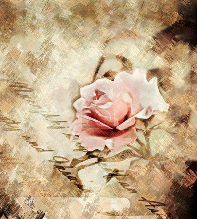 Photo pour Fond de bourgeon de rose peint - image libre de droit