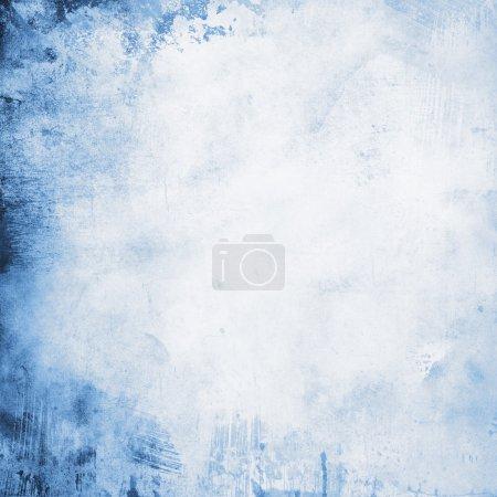 grunge background in blue tones