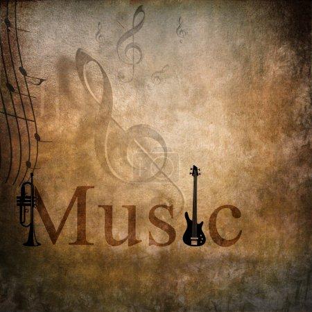 Photo pour Musique de fond pour la conception de l'affiche - image libre de droit