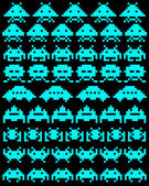 a group of space invaders