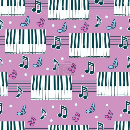 Seamless background with piano