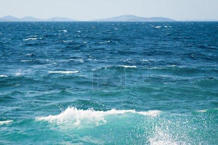 Photo pour Océan ou mer surface de l'eau de nature de l'été - image libre de droit
