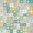 Seamless mosaic pattern made of colorful tradition...