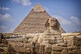 Pyramids and sphinx in Egypt
