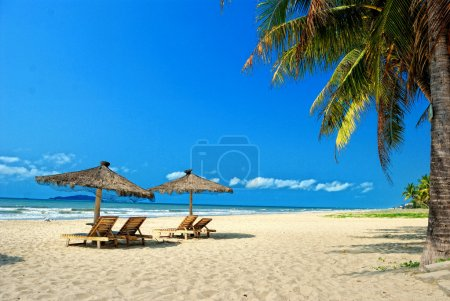 Sanya, Hainan, China's tropical beach scenery...