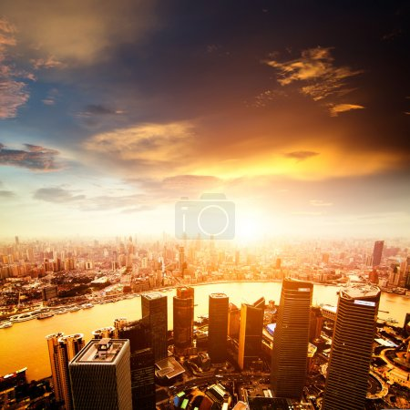 Photo for Shanghai lujiazui finance and trade zone skyline - Royalty Free Image
