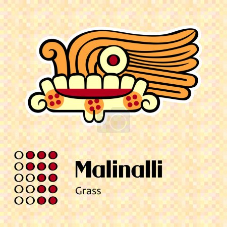 Aztec symbol Malinalli