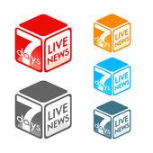 Live news symbol