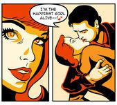 Komiks milostný příběh