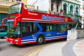 Touristic sightseeing bus in Old Havana