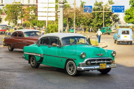 Old Chevrolet used as a taxi in Havana