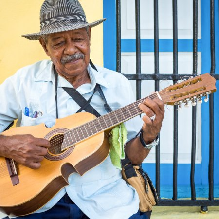 Musician playing traditional music in Havana