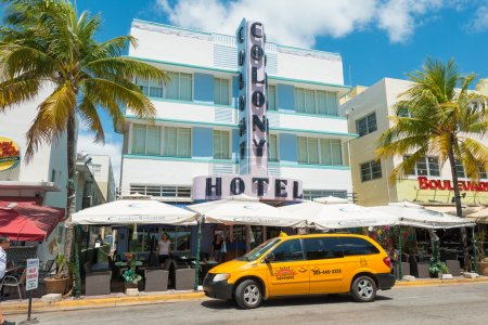 Art Deco architecture at Ocean Drive in South Beach, Miami