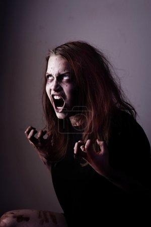 Mad possessed girl