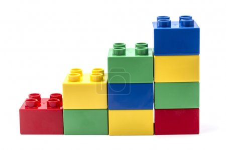 Photo for Building Blocks Isolated on White Background - Royalty Free Image