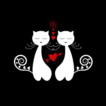 Love Cat Silhouette