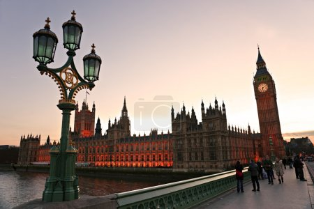 LONDON - MARCH 17: Big Ben and house of Parliament in early even