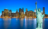 """Постер, картина, фотообои """"Статуя свободы. Нью-Йорк, США."""""""