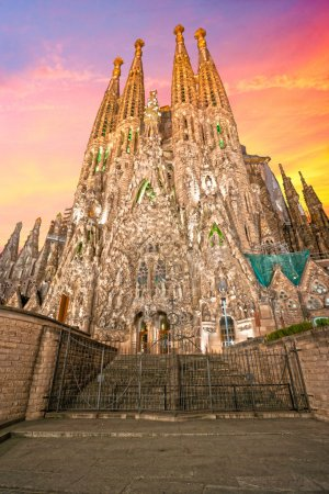 BARCELONA, SPAIN - DECEMBER 14: La Sagrada Familia...