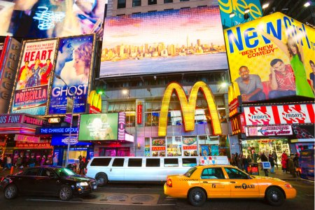 NEW YORK CITY -MARCH 25: Times Square, featured with Broadway Th