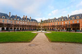 Der Place des Vosges in Paris City, Frankreich