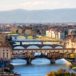 Panoramic view of Florence and Ponte Vecchio....
