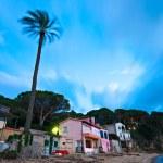 Sunset at Forno, on the Biodola Bay, Elba island....